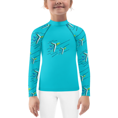 Waterfall Blue Angels Kids Sun Shirt