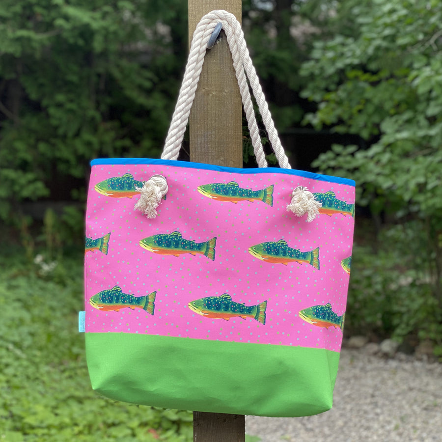 Azalea Trout with Leaf Bottom Good Harbor Tote