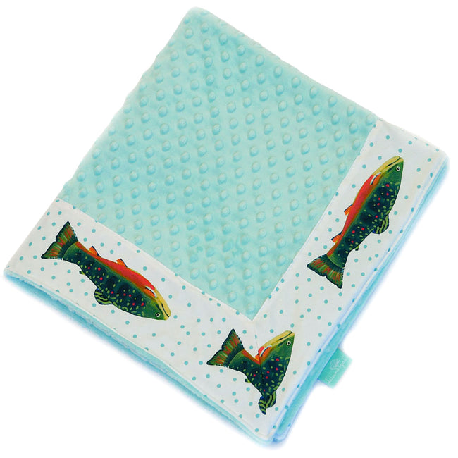White Brook Trout Baby Blankie