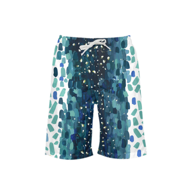 Meteor Shower Boy's Swim Trunks