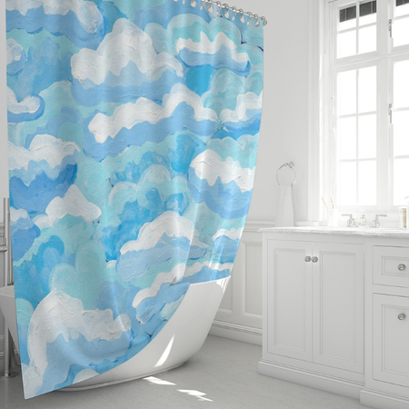 Buttermilk Skies Shower Curtain