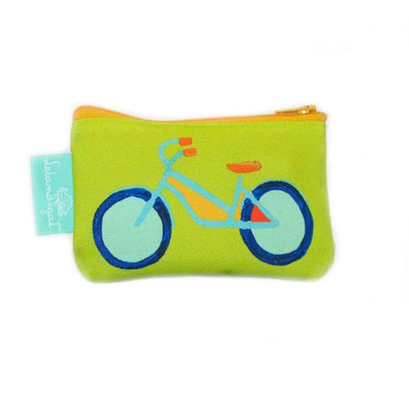 Citron Summer Bikes Single Zippered Change Purse