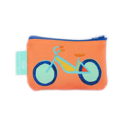 Citrus Summer Bike Single Zippered Change Purse