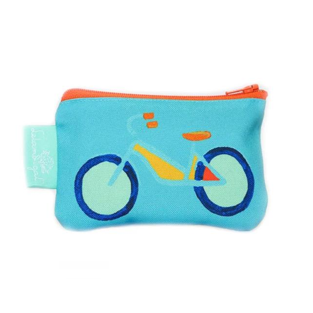 Surf Summer Bike Single Zippered Change Purse