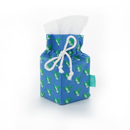 Cornflower Lilly of the Valley Tissue Box Holder