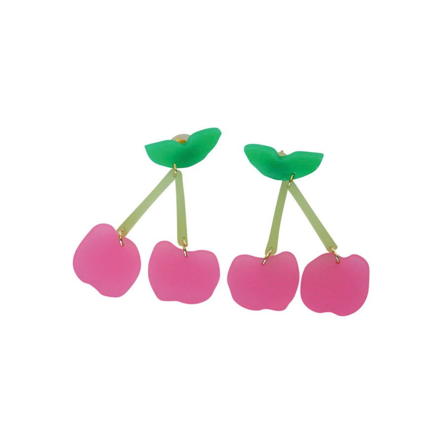 Pretty in Pink Cherries Earrings