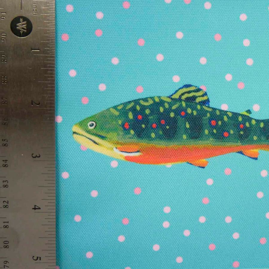Waterfall Brook Trout Fabric