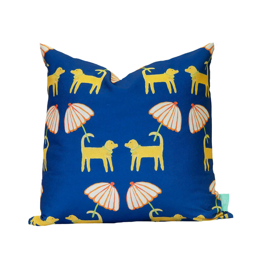Navy Dog Day Afternoon Down Pillow