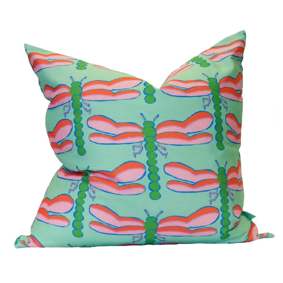 Seagreen Dragonfly Down Pillow