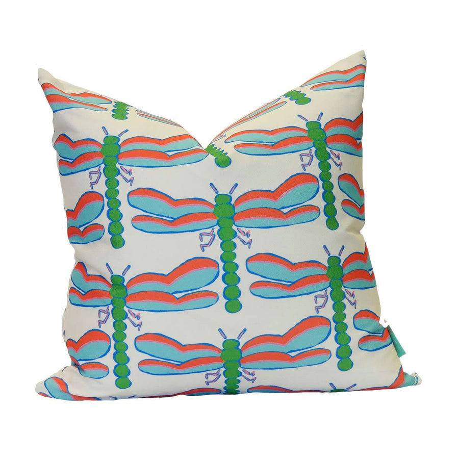 White Dragonfly Down Pillow
