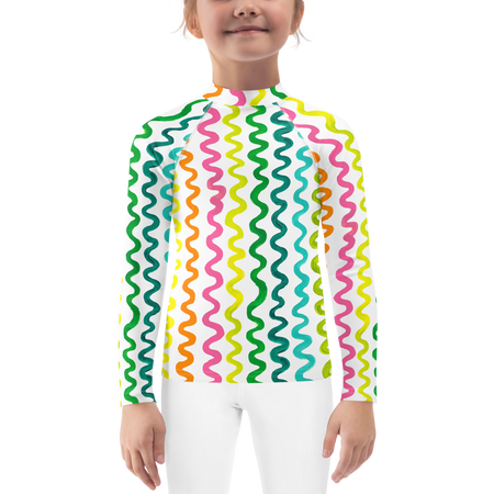 White Flourish Kids Sun Shirt