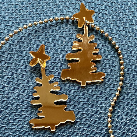 Gold Tree Earrings