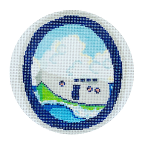 Tug Boat Needlepoint Canvas