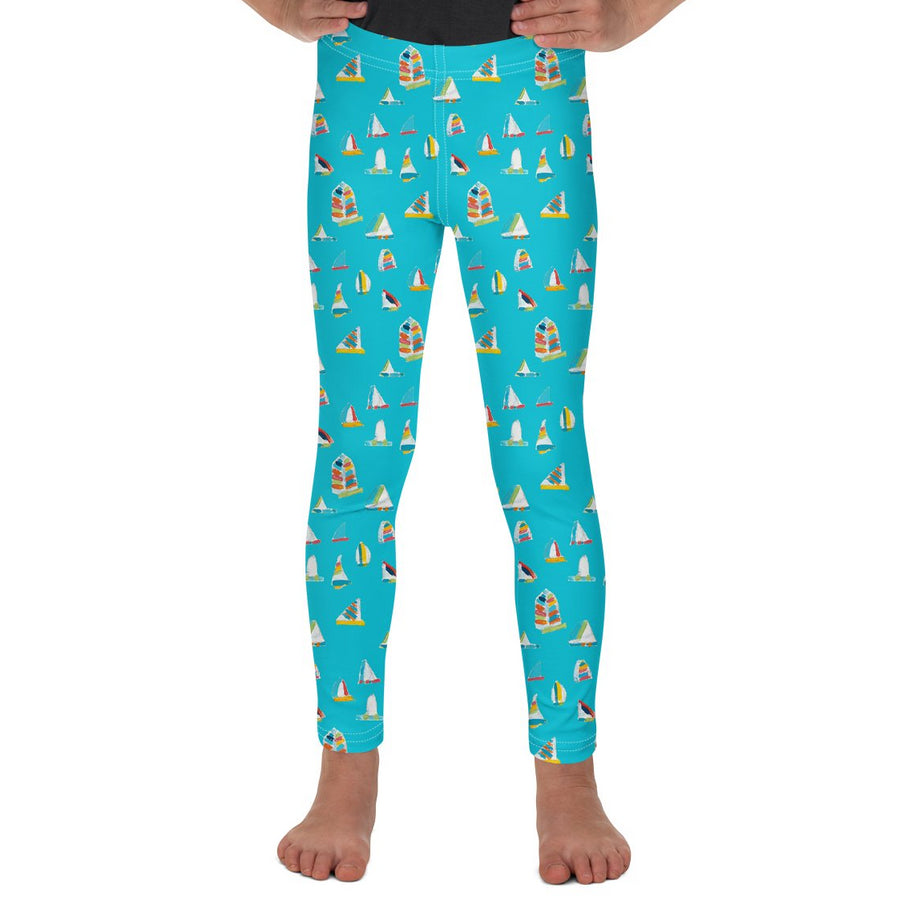 Waterfall Summer Sail Kids Leggings