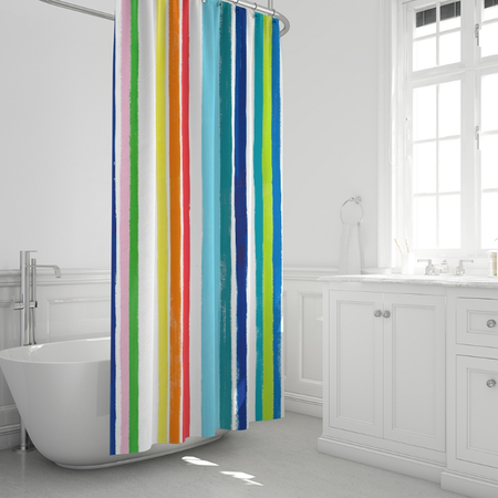 Leland Gal Stripe Shower Curtain