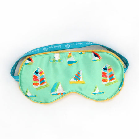 Sea Green Summer Sail Sleep Mask