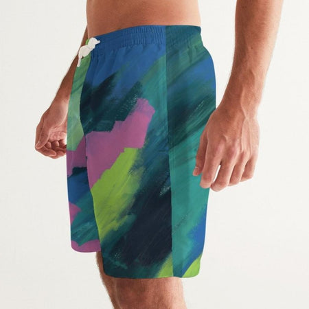 Cosmic Glow Men's Swim Trunks