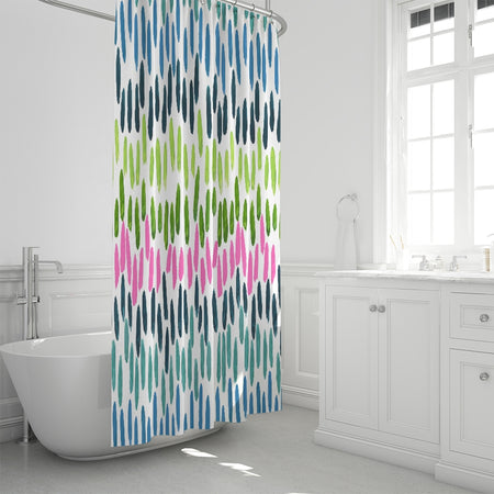 White Northern Lights Shower Curtain