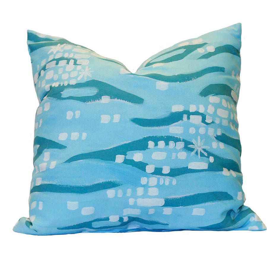 Sparkling Shoreline Outdoor Square Pillow
