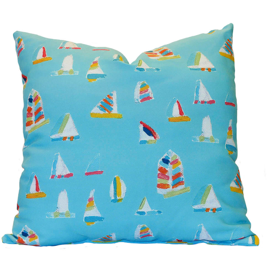 Waterfall Summer Sail Outdoor Square Pillow
