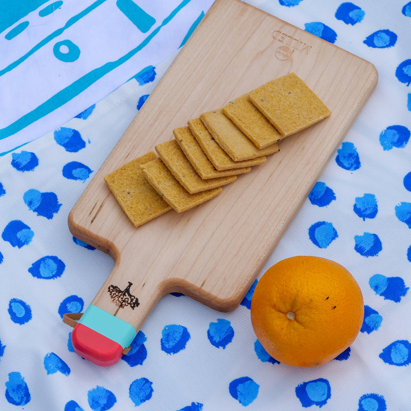 Small Coral and Turquoise Milled Co + Leland Gal Charcuterie Board