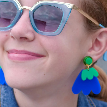Wanna Dance in Emerald and Sapphire Earrings