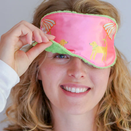Sunset Pink Dog Sleep Mask