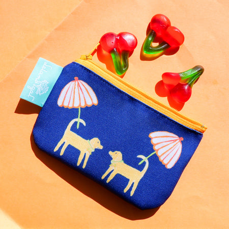 Navy Dog Day Afternoon Zippered Change Purse