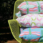Seagreen Dragonfly Outdoor Square Pillow