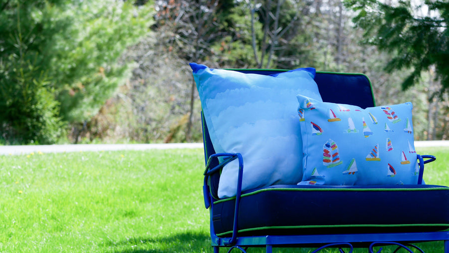 Waterfall Summer Sail Outdoor Lumbar Pillow