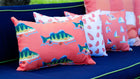 Grapefruit Perch Outdoor Lumbar Pillow