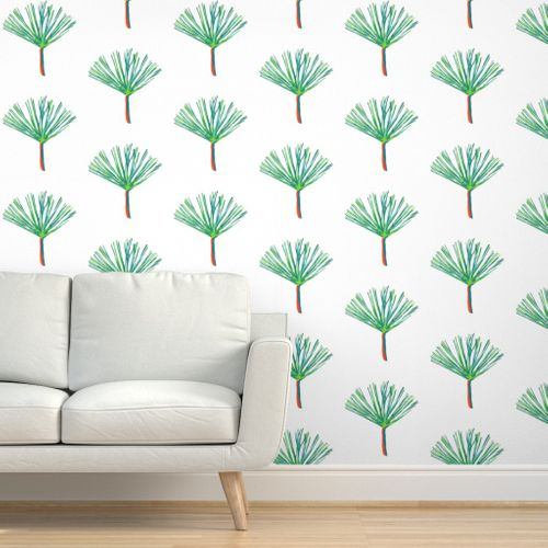 Pine for you in White Wallpaper
