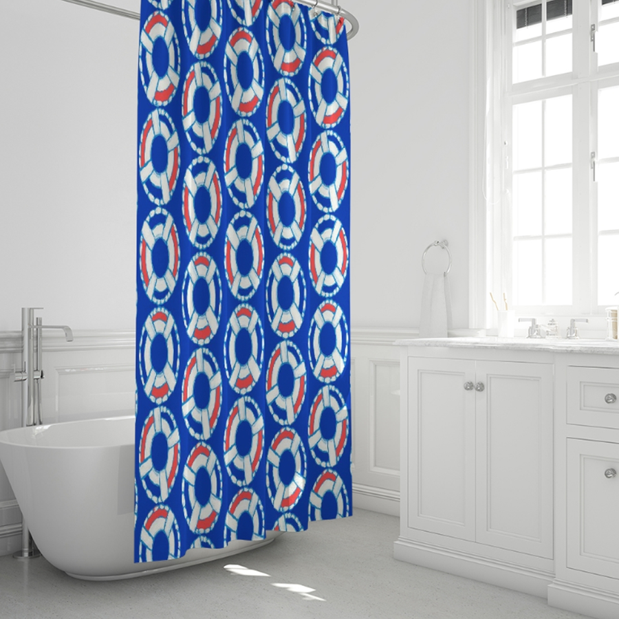 Punch Lifesaver Shower Curtain