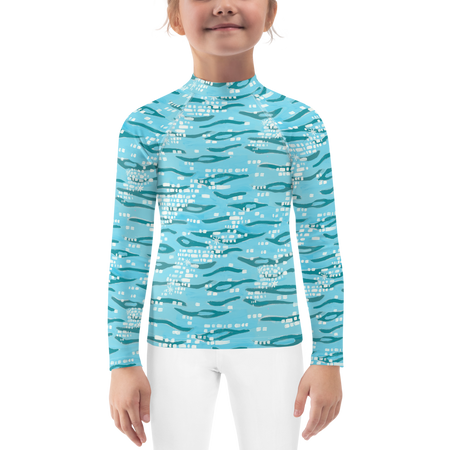 Sparkling Shoreline Kids Rashguards