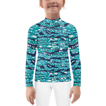 Jade Glittering Diamonds Kids Sun Shirt