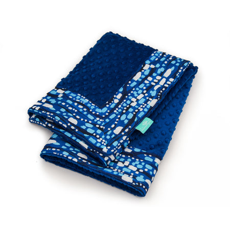 Blue Glitter with Royal Minky Baby Blankie