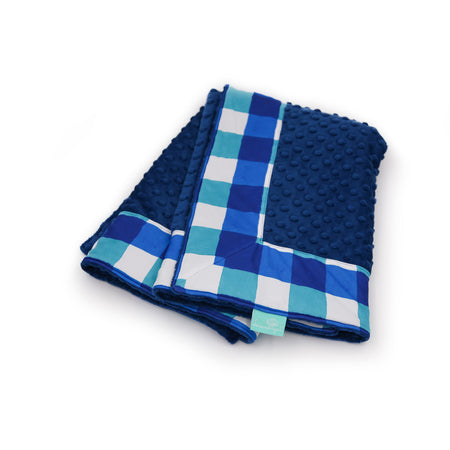 Lake Buffalo Check with Royal Minky Baby Blankie