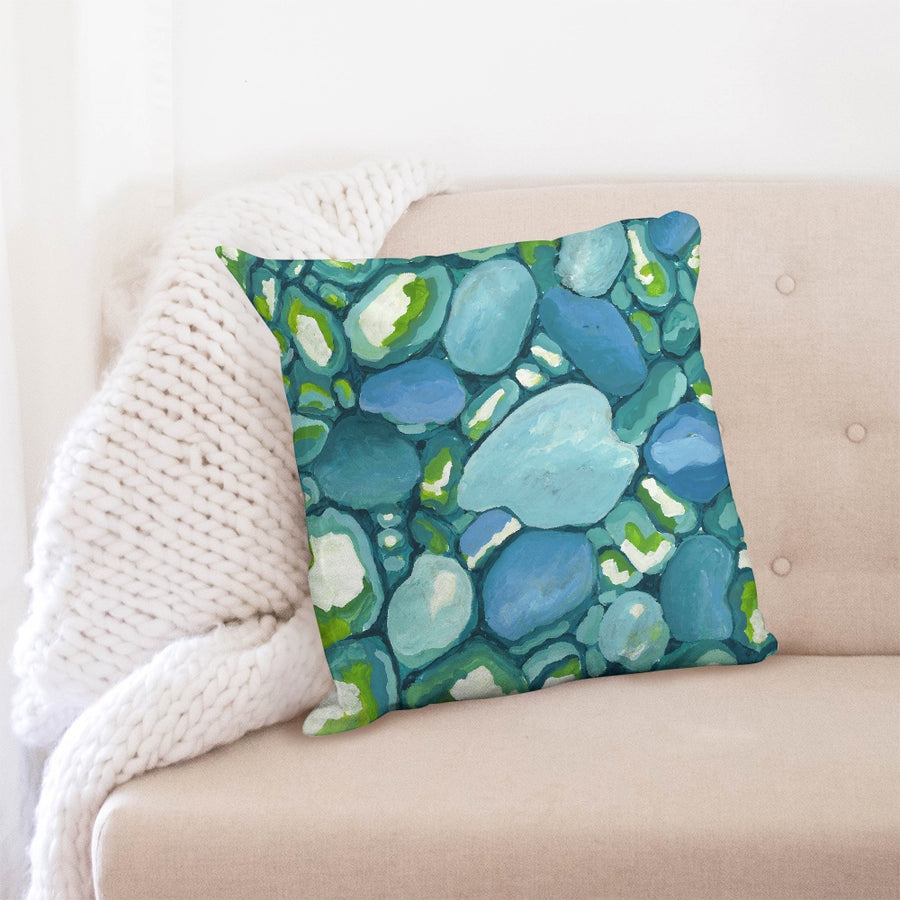 Leland Blue Down Pillow