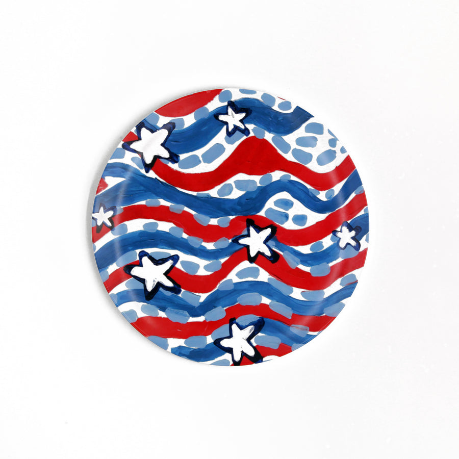 Stars and Stripes Melamine Plate