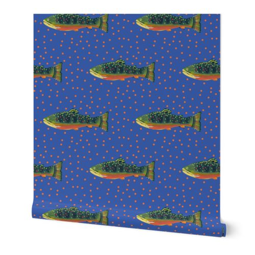 Periwinkle Brook Trout Wallpaper