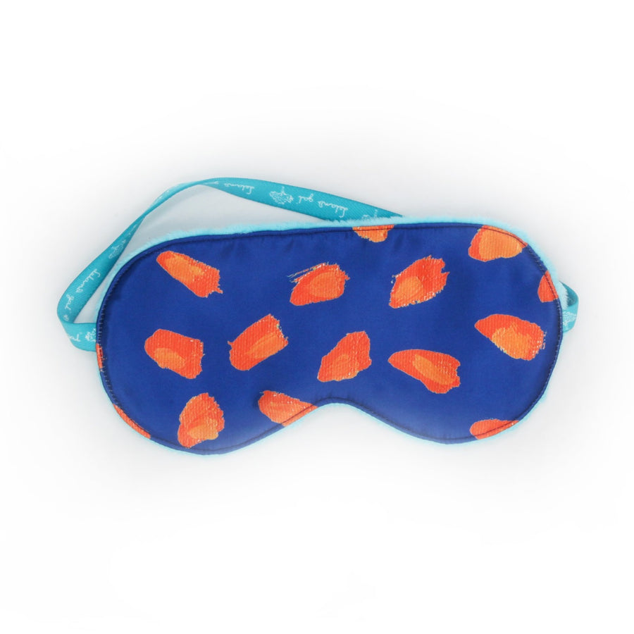 Navy Bird's Eye Boats Sleep Mask