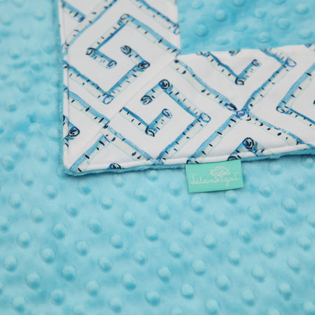 White Fancy Key with Turquoise Blankie