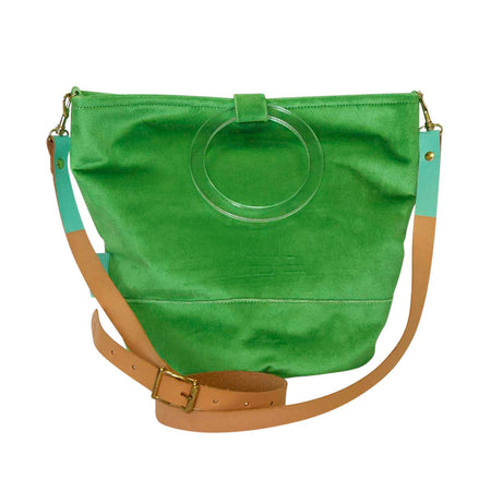 Leaf Velvet Bucket Bag