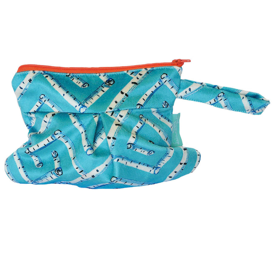 Surf Birch Fancy Key Velvet Spinnaker Wristlet