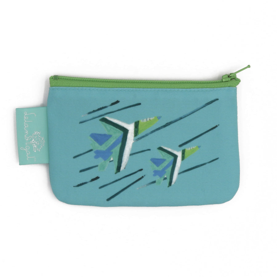 Waterfall Blue Angels Zip Change Purse