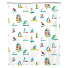 White Summer Sail Shower Curtain