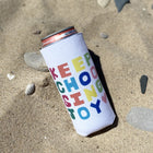 White KCJ Tall Coozie