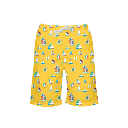 Sunshine Summer Sail Boy's Swim Trunks