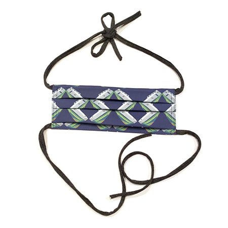Navy Tug Lattice Child's Adjustable Face Mask