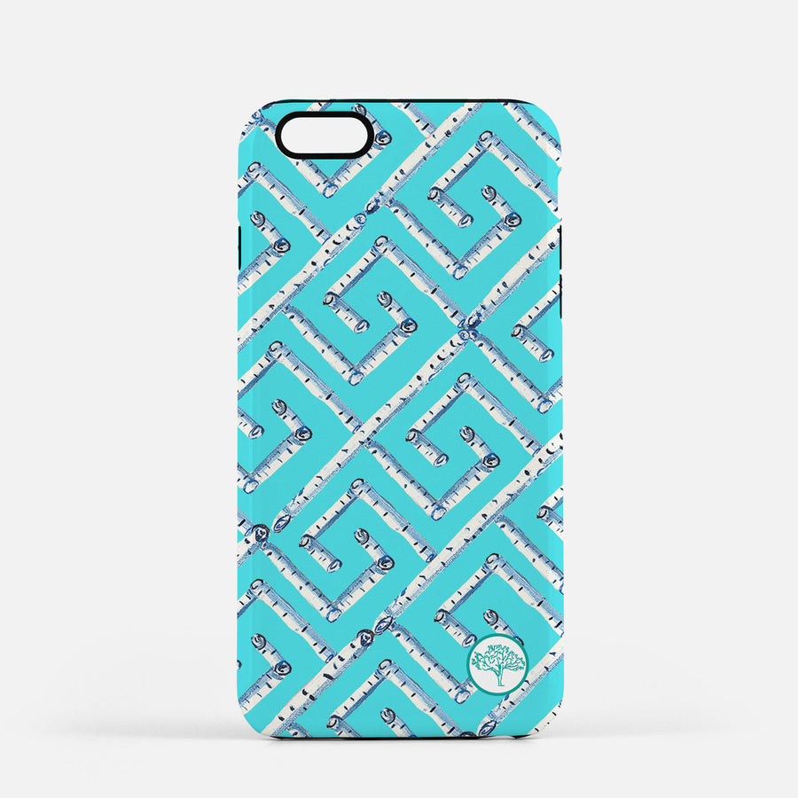 Aqua Fancy Birch Key iPhone Case